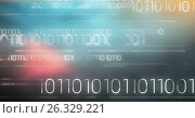 Купить «White binary code against blurry blue and red background», фото № 26329221, снято 17 февраля 2019 г. (c) Wavebreak Media / Фотобанк Лори