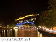 Купить «Ночной Тбилиси. Грузия», фото № 26331281, снято 4 мая 2017 г. (c) Сергей Афанасьев / Фотобанк Лори