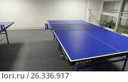 Купить «Два стола для игры в настольный теннис», видеоролик № 26336917, снято 16 января 2018 г. (c) Евгений Ткачёв / Фотобанк Лори