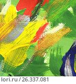 Купить «Абстрактный рисунок, гуашь», иллюстрация № 26337081 (c) Виктор Топорков / Фотобанк Лори
