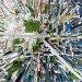 Aerial city view with roads, houses and buildings, фото № 26339605, снято 20 июля 2013 г. (c) Александр Маркин / Фотобанк Лори