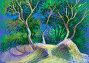 """Картина """"На дюнах"""". Бумага, пастель, иллюстрация № 26340469 (c) Ирина Борсученко / Фотобанк Лори"""