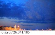 Купить «Санкт-Петербург. День Победы 9 мая. Праздничный салют», эксклюзивный видеоролик № 26341185, снято 9 мая 2017 г. (c) Литвяк Игорь / Фотобанк Лори