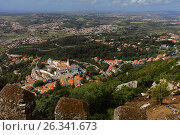 Aerial view of Sintra, Portugal, фото № 26341673, снято 10 мая 2017 г. (c) Лиляна Виноградова / Фотобанк Лори