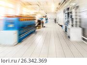 Купить «Automatic winding machine», фото № 26342369, снято 3 апреля 2017 г. (c) Андрей Радченко / Фотобанк Лори