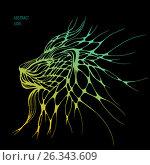Abstract lion. Vector. Стоковая иллюстрация, иллюстратор Юлия Дакалова / Фотобанк Лори