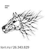 Abstract horse. graphics. freehand drawing. Стоковая иллюстрация, иллюстратор Юлия Дакалова / Фотобанк Лори