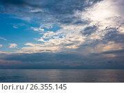 Купить «Ранний вечер. Закат. Средиземное море. Турция», фото № 26355145, снято 19 мая 2017 г. (c) Екатерина Овсянникова / Фотобанк Лори