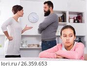 Купить «Parents arguing at home», фото № 26359653, снято 19 марта 2019 г. (c) Яков Филимонов / Фотобанк Лори