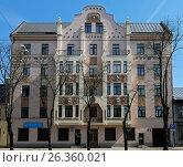 Купить «Riga, Miera street 54, Art Nouveau», фото № 26360021, снято 14 мая 2017 г. (c) Andrejs Vareniks / Фотобанк Лори