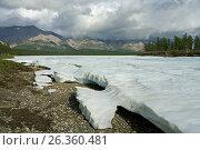 Купить «The remnants of last year the ice in the valley of the creek. Omulewska the Midlands. Yakutia. Russia.», фото № 26360481, снято 21 июля 2009 г. (c) Сергей Карпухин / Фотобанк Лори