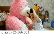 Купить «Happy baby in her favorite house», видеоролик № 26366301, снято 22 мая 2017 г. (c) Константин Мерцалов / Фотобанк Лори