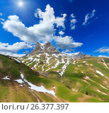 Alpine sunshiny view (Vorarlberg,Austria) Стоковое фото, фотограф Юрий Брыкайло / Фотобанк Лори