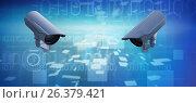 Купить «Composite image of cctv camera», иллюстрация № 26379421 (c) Wavebreak Media / Фотобанк Лори