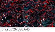 Купить «Composite image of blue matrix and codes», иллюстрация № 26380645 (c) Wavebreak Media / Фотобанк Лори