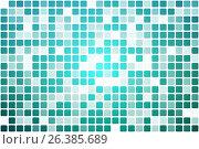 Купить «Бирюзовые оттенки иногда помутнение мозаики на белом фоне. Turquoise shades occasional opacity mosaic over white», иллюстрация № 26385689 (c) TasiPas / Фотобанк Лори