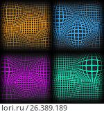 Set abstract backgrounds with half tone effect, vector illustration. Стоковая иллюстрация, иллюстратор Купченко Евгений / Фотобанк Лори