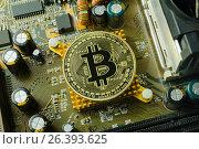 Купить «Новая, стабильная, анонимная криптовалюта Биткоин (Bitcoin)», фото № 26393625, снято 20 марта 2017 г. (c) Роман Оплев / Фотобанк Лори