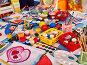 Kindergarten tables and chairs in interior decoration shelves for toys., фото № 26396717, снято 25 марта 2017 г. (c) Gennadiy Poznyakov / Фотобанк Лори