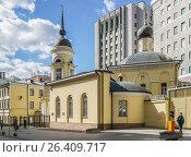 Купить «Храм во имя Софии Премудрости Божией на Пушечной улице. Москва», эксклюзивное фото № 26409717, снято 22 мая 2017 г. (c) Виктор Тараканов / Фотобанк Лори