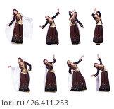Купить «Young lady dancing traditional azeri dance», фото № 26411253, снято 28 февраля 2013 г. (c) Elnur / Фотобанк Лори