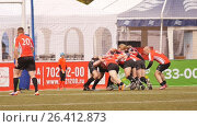 Матч РК Ливония, Латвия - РК Буслы, Белоруссия на Кубке европейских чемпионов по регби-7, видеоролик № 26412873, снято 27 мая 2017 г. (c) Stockphoto / Фотобанк Лори