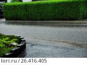 Купить «Flooded road, Germany, Rhineland-Palatinate», фото № 26416405, снято 12 июня 2015 г. (c) age Fotostock / Фотобанк Лори