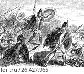 "Miltiades the Younger, c. 550 â. "" 489 BC, Battle of Marathon, Ancient Greece. (2017 год). Редакционное фото, фотограф Heinz-Dieter Falkenstein / age Fotostock / Фотобанк Лори"