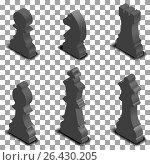 Chess figures isometric, vector illustration. Стоковая иллюстрация, иллюстратор Купченко Евгений / Фотобанк Лори