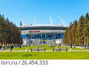 """Купить «""""Санкт-Петербург Арена"""", (бывший """"Зенит-Арена"""") на Крестовском острове. Санкт-Петербург», фото № 26454333, снято 4 июня 2017 г. (c) Сергей Афанасьев / Фотобанк Лори"""