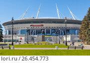 """Купить «""""Санкт-Петербург Арена"""", (бывший """"Зенит-Арена"""") на Крестовском острове. Санкт-Петербург», фото № 26454773, снято 4 июня 2017 г. (c) Сергей Афанасьев / Фотобанк Лори"""