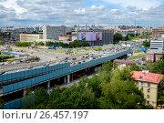 Купить «Москва, вид сверху на щоссе Энтузиастов и Третье транспортное кольцо», фото № 26457197, снято 3 июня 2017 г. (c) glokaya_kuzdra / Фотобанк Лори