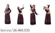 Купить «Young lady dancing traditional azeri dance», фото № 26460533, снято 28 февраля 2013 г. (c) Elnur / Фотобанк Лори