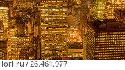 Купить «View of New York Manhattan during sunset hours», фото № 26461977, снято 20 декабря 2013 г. (c) Elnur / Фотобанк Лори