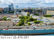 Купить «Москва, вид сверху на шоссе Энтузиастов и Третье транспортное кольцо», фото № 26476081, снято 3 июня 2017 г. (c) glokaya_kuzdra / Фотобанк Лори