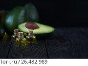 Купить «Oil of avocado», фото № 26482989, снято 23 апреля 2017 г. (c) Jan Jack Russo Media / Фотобанк Лори