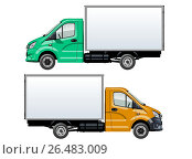 Купить «Vector truck template isolated on white», иллюстрация № 26483009 (c) Александр Володин / Фотобанк Лори