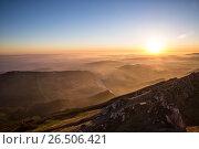 Рассвет на Владикавказом. Стоковое фото, фотограф Валера Сабанов / Фотобанк Лори