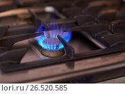 Купить «burning gas stove flame», фото № 26520585, снято 17 февраля 2017 г. (c) Syda Productions / Фотобанк Лори