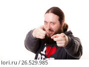 Купить «A finger from a person as if you are the next pointing to the straight, blurring background», фото № 26529985, снято 1 февраля 2015 г. (c) Артём Зайцев / Фотобанк Лори