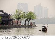 Купить «West Lake, Hangzhou, Zhejiang province, China, Asia», фото № 26537673, снято 5 апреля 2016 г. (c) age Fotostock / Фотобанк Лори