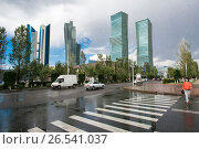 Купить «Казахстан. Астана. Деловой квартал в центре города», фото № 26541037, снято 10 июня 2017 г. (c) Сергеев Валерий / Фотобанк Лори