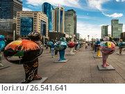 Купить «Казахстан. Астана.  ЭКСПО - 2017 в центре города», фото № 26541641, снято 10 июня 2017 г. (c) Сергеев Валерий / Фотобанк Лори