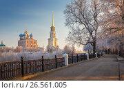 Купить «cathedral bell tower of Ryazan kremlin, XVIII-XIX century, Russia», фото № 26561005, снято 27 ноября 2014 г. (c) Дмитрий Кутлаев / Фотобанк Лори