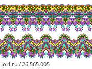 Купить «Floral ornamental pattern collection to fabric printing», иллюстрация № 26565005 (c) Олеся Каракоця / Фотобанк Лори