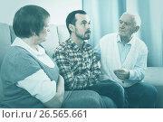 Купить «Parents arguing with son», фото № 26565661, снято 19 марта 2019 г. (c) Яков Филимонов / Фотобанк Лори