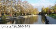 Купить «Набережная реки Салгир (Симферополь)», фото № 26566149, снято 11 апреля 2017 г. (c) Ярослав Коваль / Фотобанк Лори