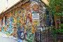 Фрагмент мозаичного дворика Малой Академии искусств. Санкт-Петербург, фото № 26566293, снято 21 июля 2016 г. (c) Сергей Афанасьев / Фотобанк Лори