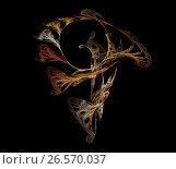Dancing Random Fractal. Стоковая иллюстрация, иллюстратор Сергей Носов / Фотобанк Лори
