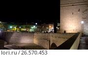 Купить «Calahorra Tower in Cordoba, Andalusia, Spain», видеоролик № 26570453, снято 17 февраля 2017 г. (c) BestPhotoStudio / Фотобанк Лори